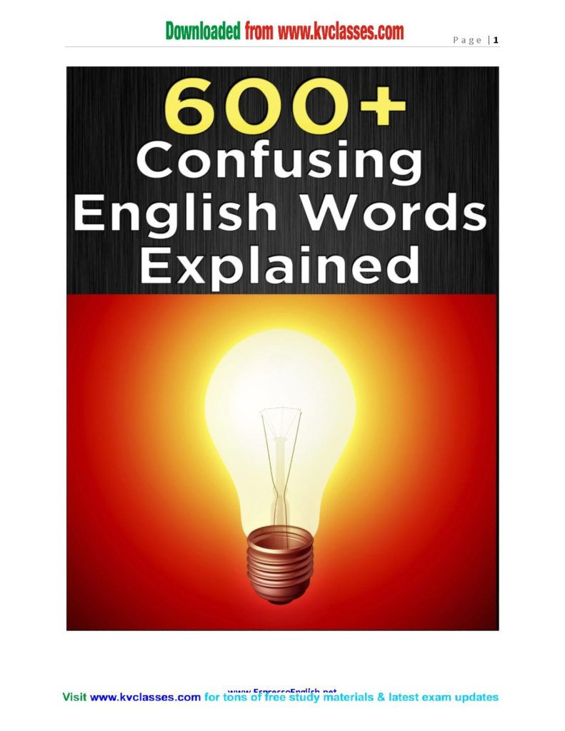 english word in pdf – KV Classes