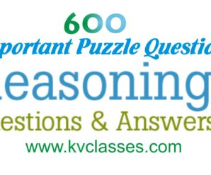 6600 Important Puzzle Questions Pdf download