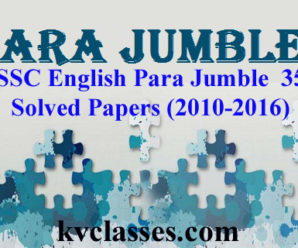 SSC English Para Jumble  35 Solved Papers (2010-2016)