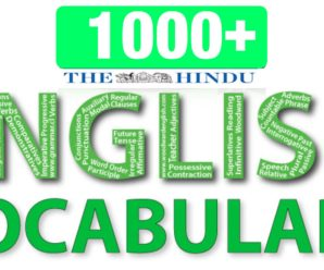 1000+Vocabulary with Complete Explanation From THE HINDU News Paper PDF Download