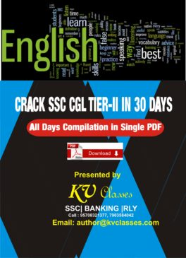 Crack ssc cgl tier-II