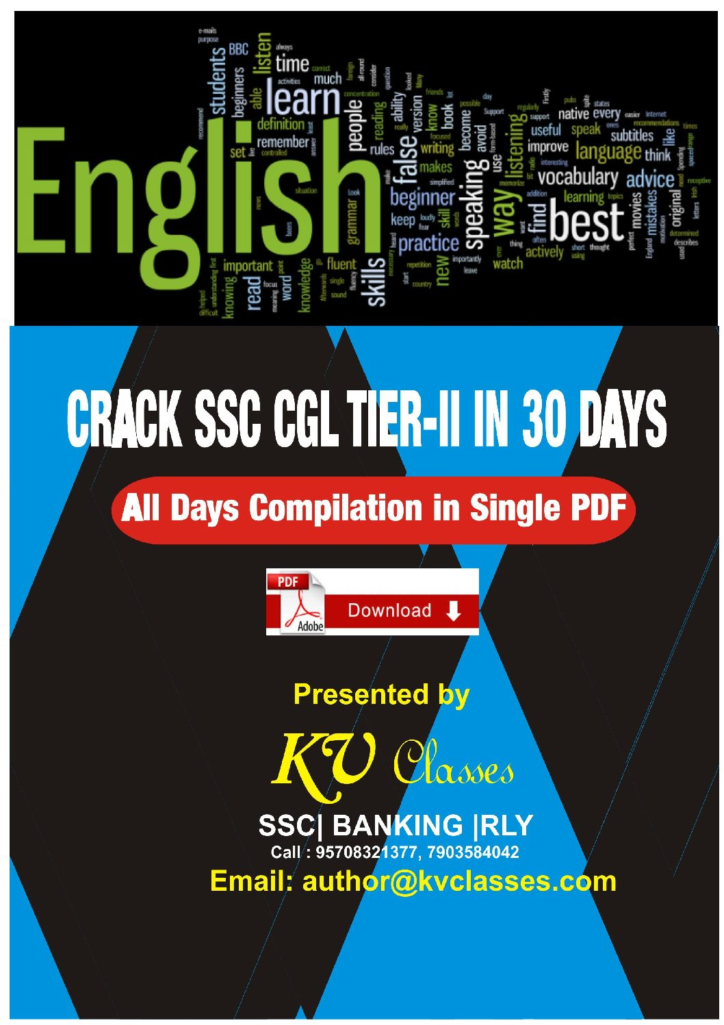 Crack SSC CGL 2017 TIER-II All 30 Days Compilation in Single PDF