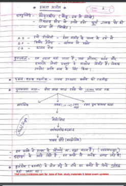 NCERT HISTORY HANDWRITTEN NOTES Class 6 to 8th PDF download