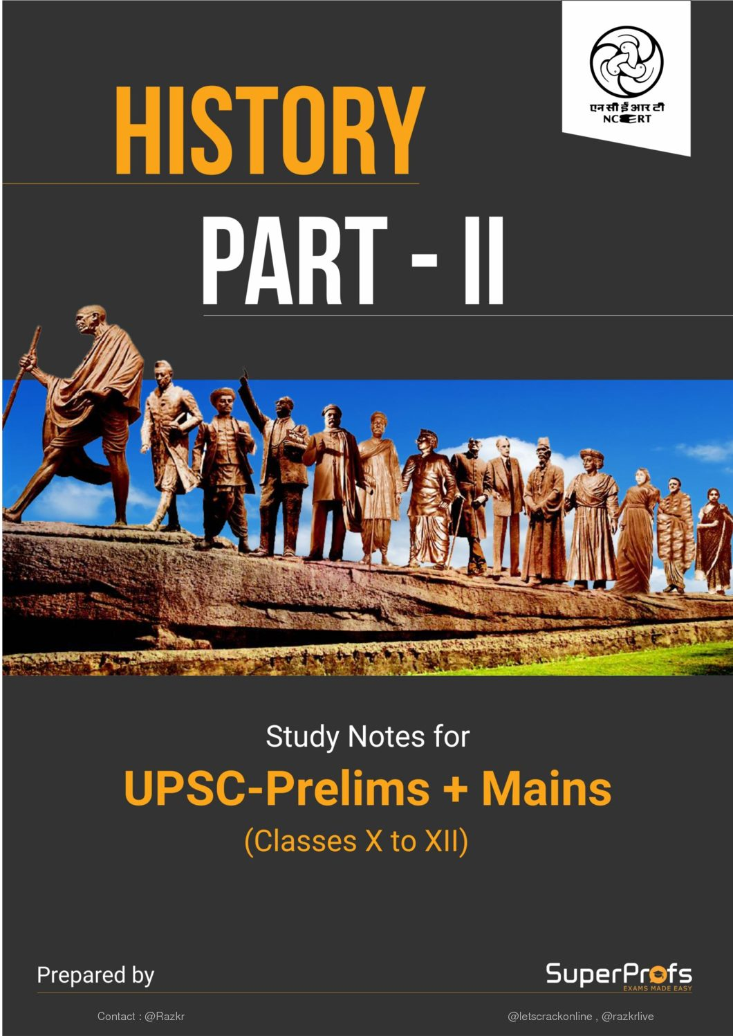 History NCERT Gist 10th+11th+12th in 1 PDF DOWLOAD