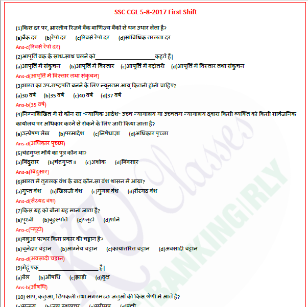 SSC Kiran General Awareness GK Chapterwise PDF in English