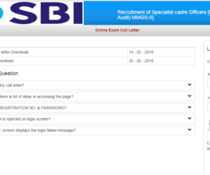 Admit Card SBI SO (Deputy Manager) Admit Card 2018  Download Here