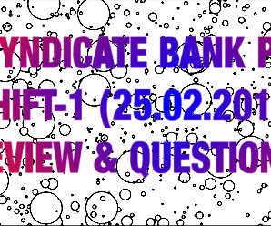 Syndicate Bank PO Exam Analysis & Review : 25.02.2018 ( Shift-1 )