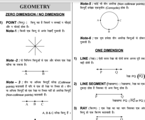 SSC Geometry and Mensuration Notes (Hindi + English) PDF Download
