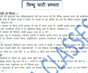 History (सिन्धु घाटी सभ्यता) PDF Notes For Competitive Exams