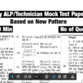 Railway ALP/Technicians Mock Test Paper- 01(Based On New Pattern)