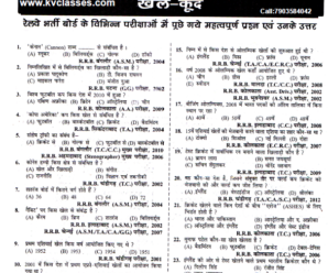 Railway Previous Year Sports GK Questions Download PDF