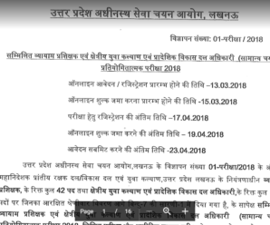UPSSSC Recruitment Notification 2018 for 694 Posts