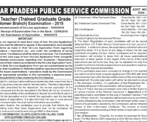 UPPSC Assistant Teacher Recruitment Notification 2018 for 10768 Posts