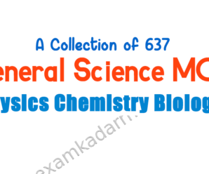 A Collection Of 637 General Science in English PDF Download