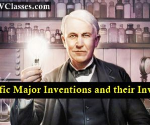 Major Scientific Inventions and their Inventors