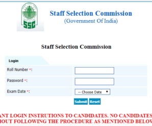 SSC Scientific Assistant 2017 Final Answer Key Out: Check now