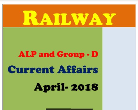 Current Affairs April 2018 in English For All Competitive Exam