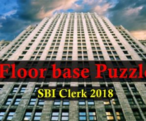 Important Floor Base Puzzle for SBI Clerk 2018