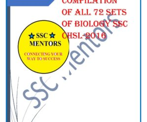 ALL Biology Questions of 72shifts of CHSL 2016