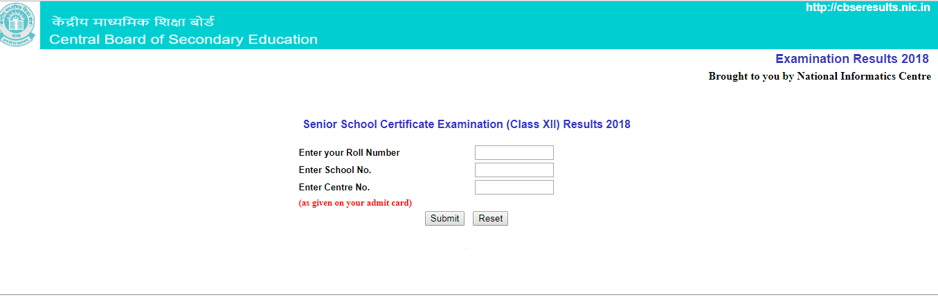 CBSE Board Class 12th Result 2018 Declared