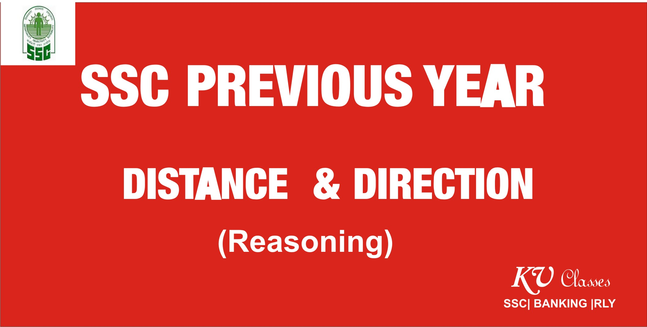 DISTANCE DIRECTION PREVIOUS YEAR QUESTIONS