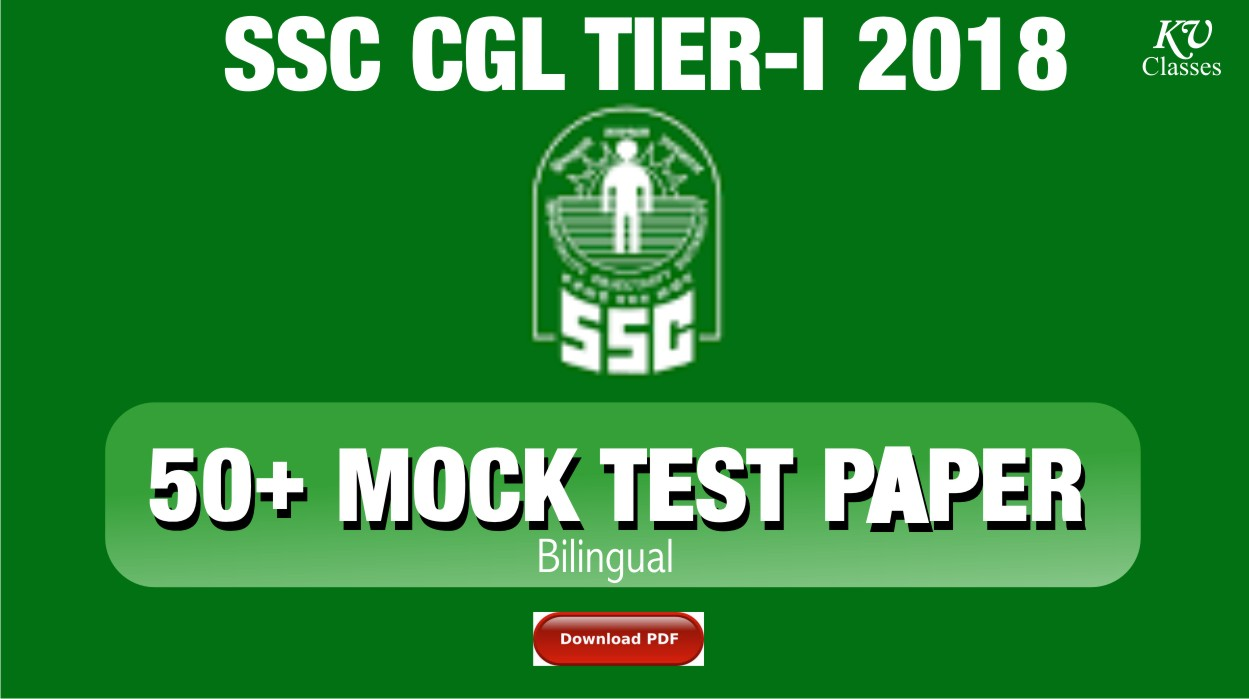50+ SSC CGL 2018 TIER-I TEST SERIES(Bilingual) WITHS OLUTION [PDF]