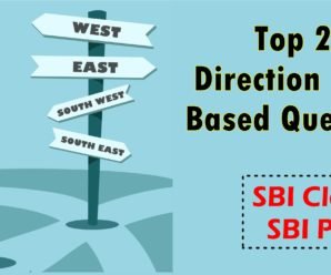 Top 25 Direction Sense Questions for SBI Clerk, SBI PO and SSC CGL 2018