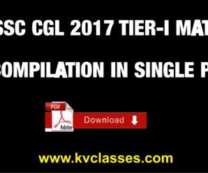 SSC CGL 2017 TIER-I MATHS COMPILATION IN SINGLE PDF