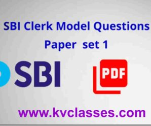 SBI Clerk 2018 Model Questions Paper  SET -1 PDF Download