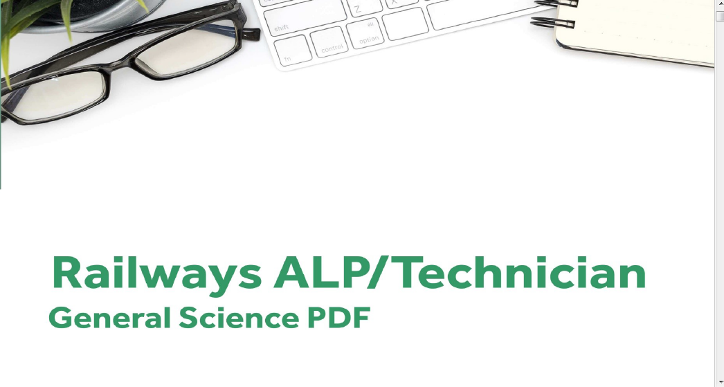 RRB ALP/ Technician General Science (Chemistry, Biology &Physics) PDF: Download Now