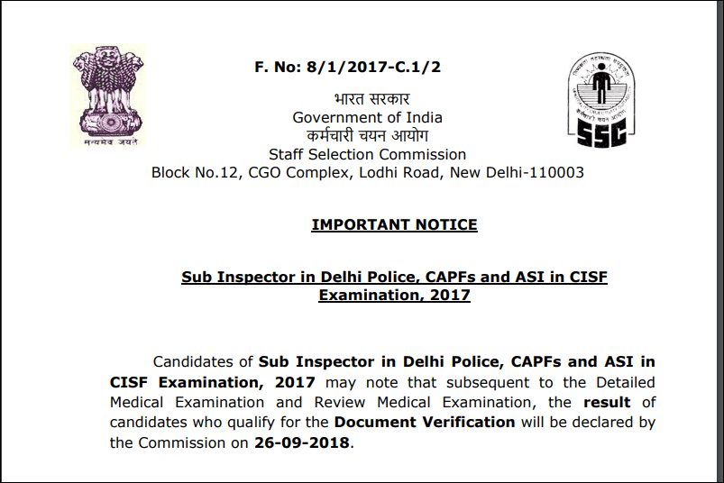 Important Notice of CPO 2017 Exam