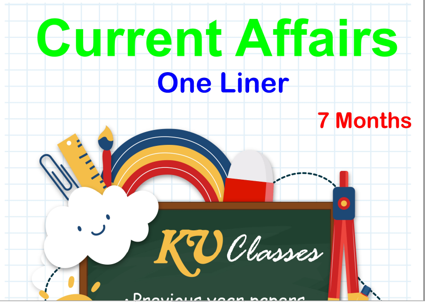 Current Affairs One Liner [Jan-Aug 2018] PDF Download