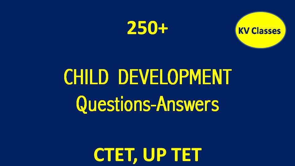 CHILD DEVELOPMENT QUESTIONS