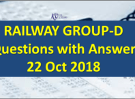 RRB Group D Analysis 22nd October 2018 with Questions Asked All Shift