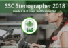 SSC Stenographer Recruitment Notification 2018 PDF Download