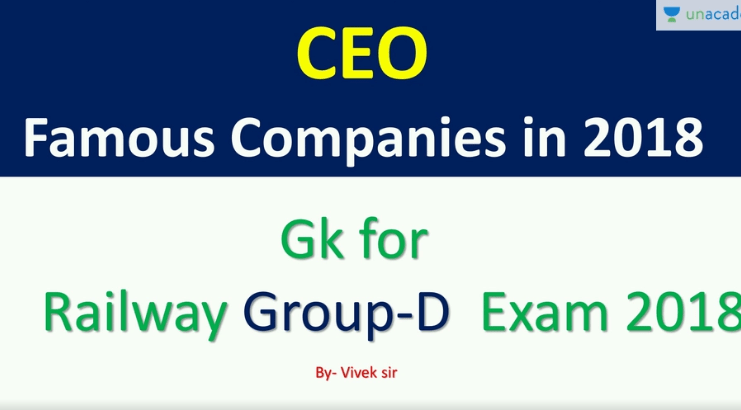 Current Affairs:CEO Famous Companies in 2018 (in Hindi)