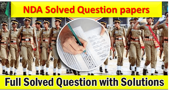 UPSC NDA Exam 2018 Solved Paper in English