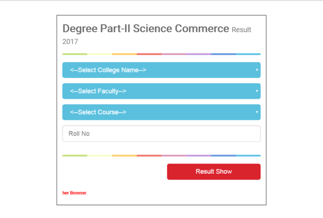 BNMU Degree Part IIResult Out