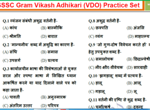 UPSSC (VDO) Practice Set in Hindi| Gram Vikash Adhikari