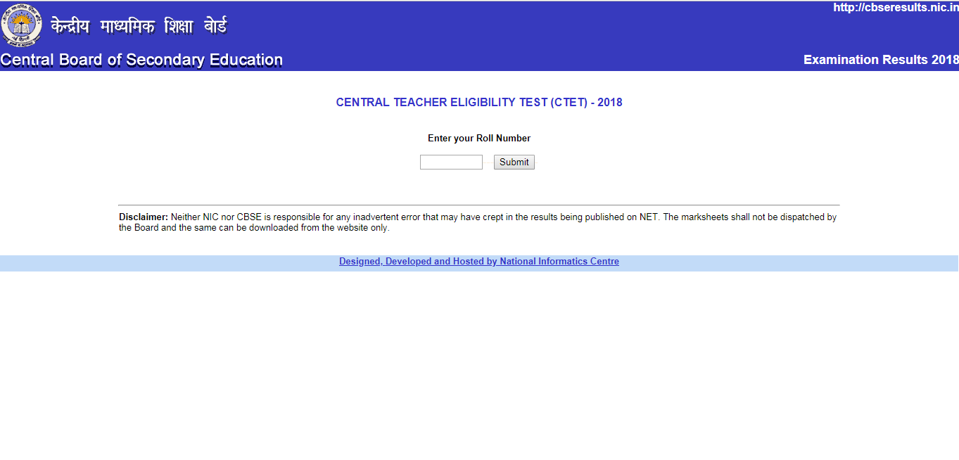 CTET 2018 RESULT DECLARED : Check Now