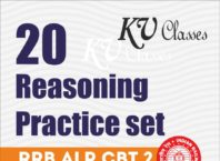 [ PDF] 20 Reasoning Practice Set for RRB CBT 02 By Vaishali Jain (Hindi)