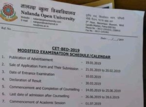 BEd Combined Entrance Test-2019