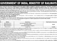 RRB Railways Official Notice Regarding recruitment of 1.3 lakhs posts in Railways