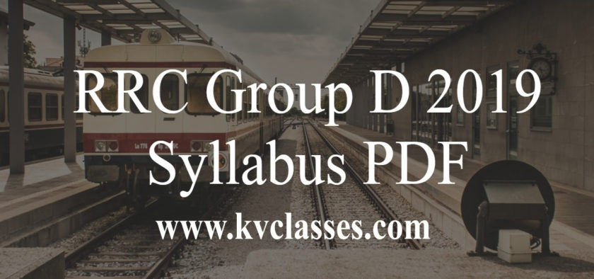 Official Railway Group D Syllabus & Exam Pattern 2019