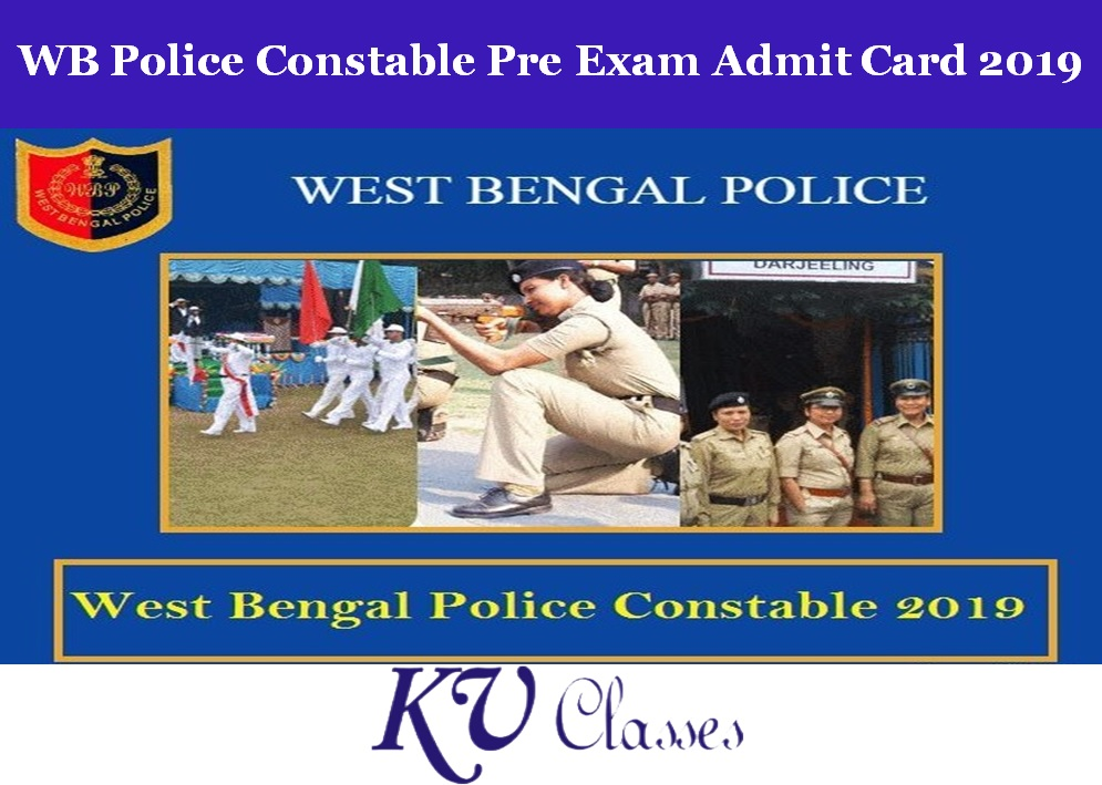 WB Police Constable Pre Exam Admit Card 2019