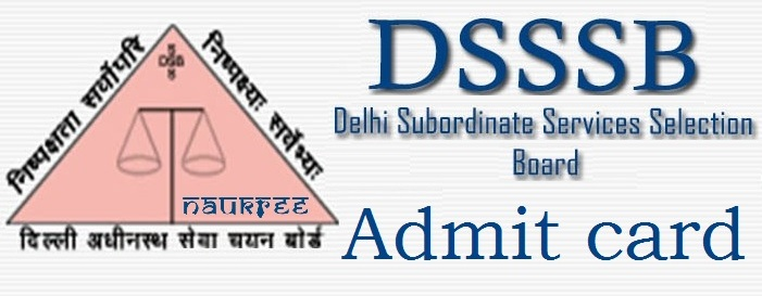 DSSSB Patwari 2017 Admit Card