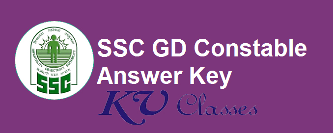 SSC Constable GD Final Answer Key 2019