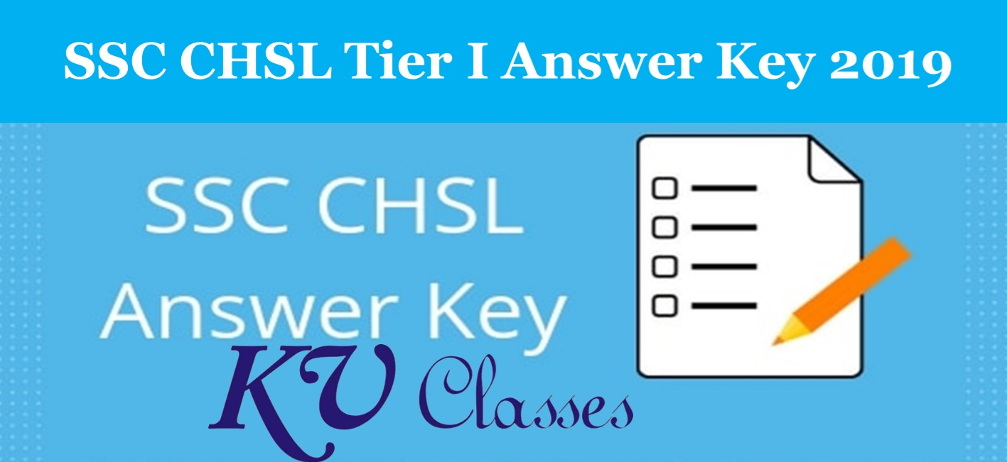 SSC CHSL Tier I Answer Key 2019