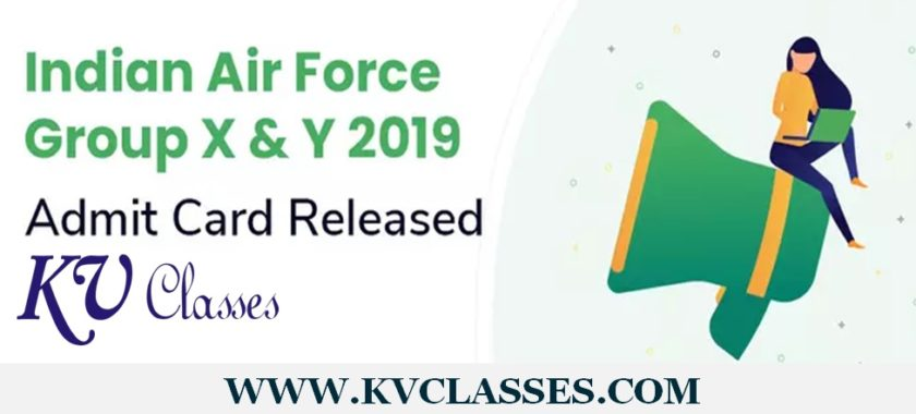 Air Force X, Y Group Admit Card 2019
