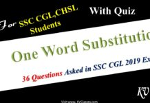 One word Substitution Asked in SSC CGL 2019 TIER-1 Exam with Quiz